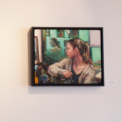 Painting by Adrienne Dagg, Installation View at Sivarulrasa Gallery in Almonte, Ontario
