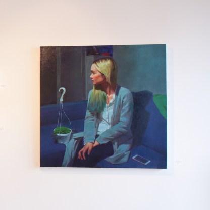 Painting by Caroline Ji, Installation View at Sivarulrasa Gallery in Almonte, Ontario
