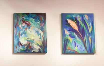 Paintings by Gayle Kells at Sivarulrasa Gallery