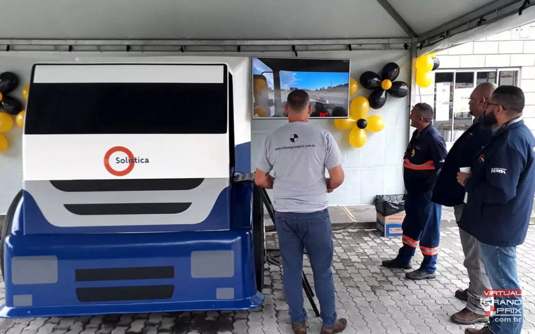 Simulador de Caminhão @ Solistica – Maio Amarelo