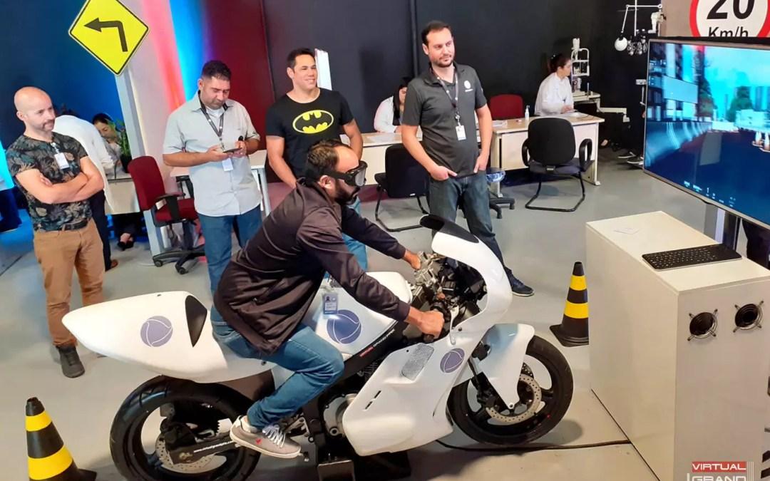 Simulador de Moto Record TV @ SIPAT 2019