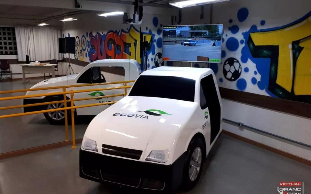 Simulador Real Car EcoVia @ Maio Amarelo 2019