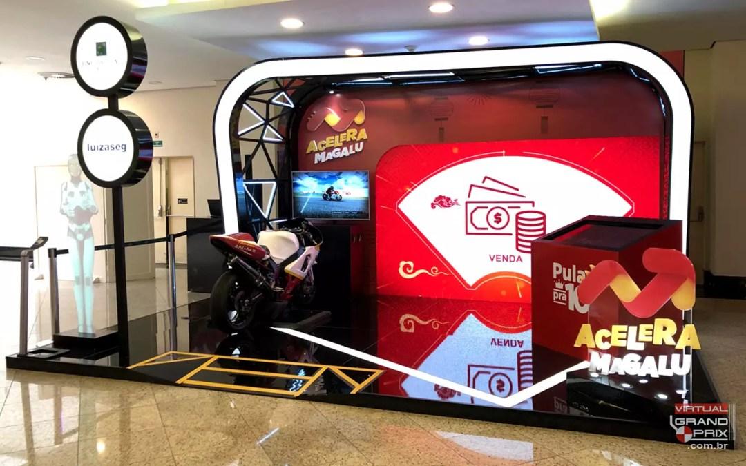 Simulador MotoGP BNP Paribas @ Acelera Magalu