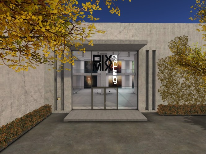 The DiXMiX Art gallery entrance in Second Life®