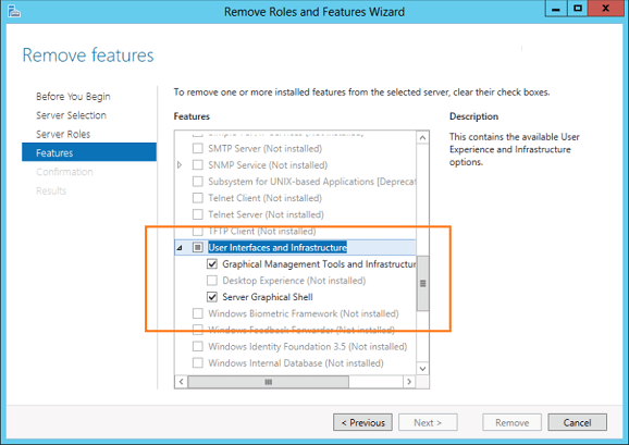 Converting between GUI and Server Core in Windows Server 2012 Using PowerShell V3