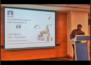 Presenting at PowerShell Bangalore User Group Meeting, June 1st 2013