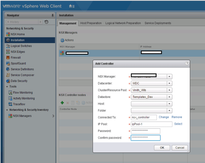 VMware NSX Controller Cluster