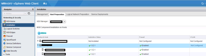 VMware NSX Host Preparation
