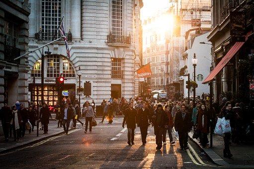Busy Street in London