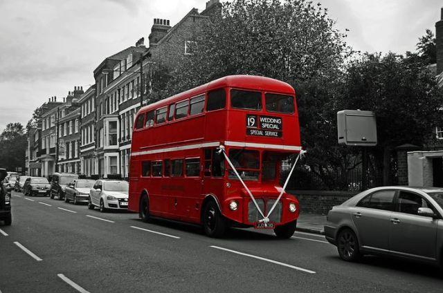 London double-decker busy