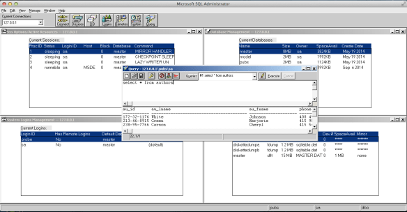 MS SQL Server 4.21 running on OS X