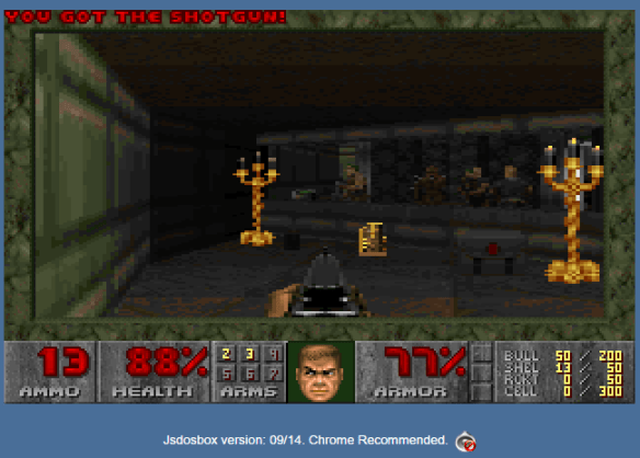 Jsdosbox with DOOM