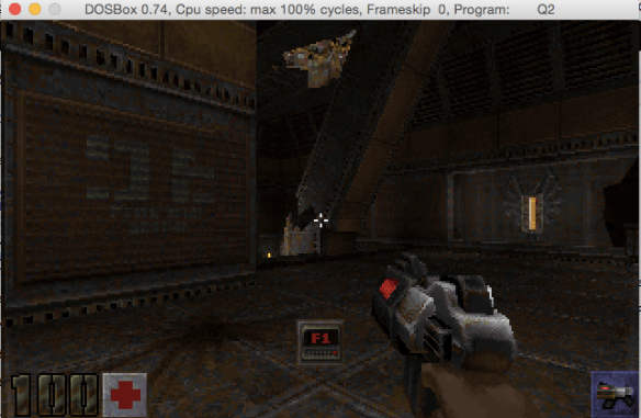 Quake II running on MS-DOS!