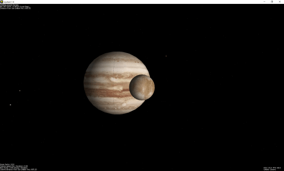 ssystem in orbit around Europa.