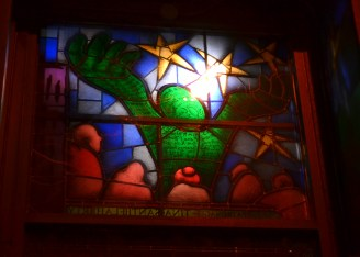 Stained glass window on W. 22nd St.