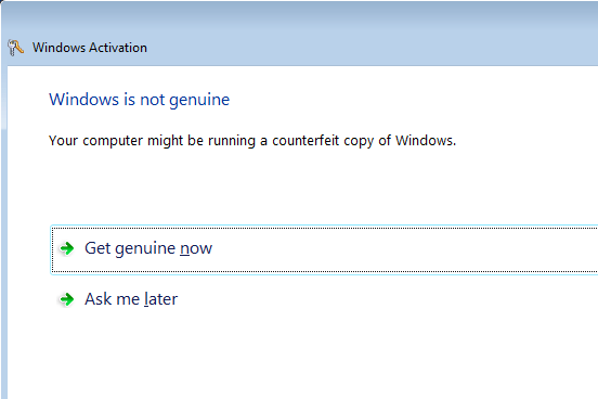 how can i make my windows 7 genuine again