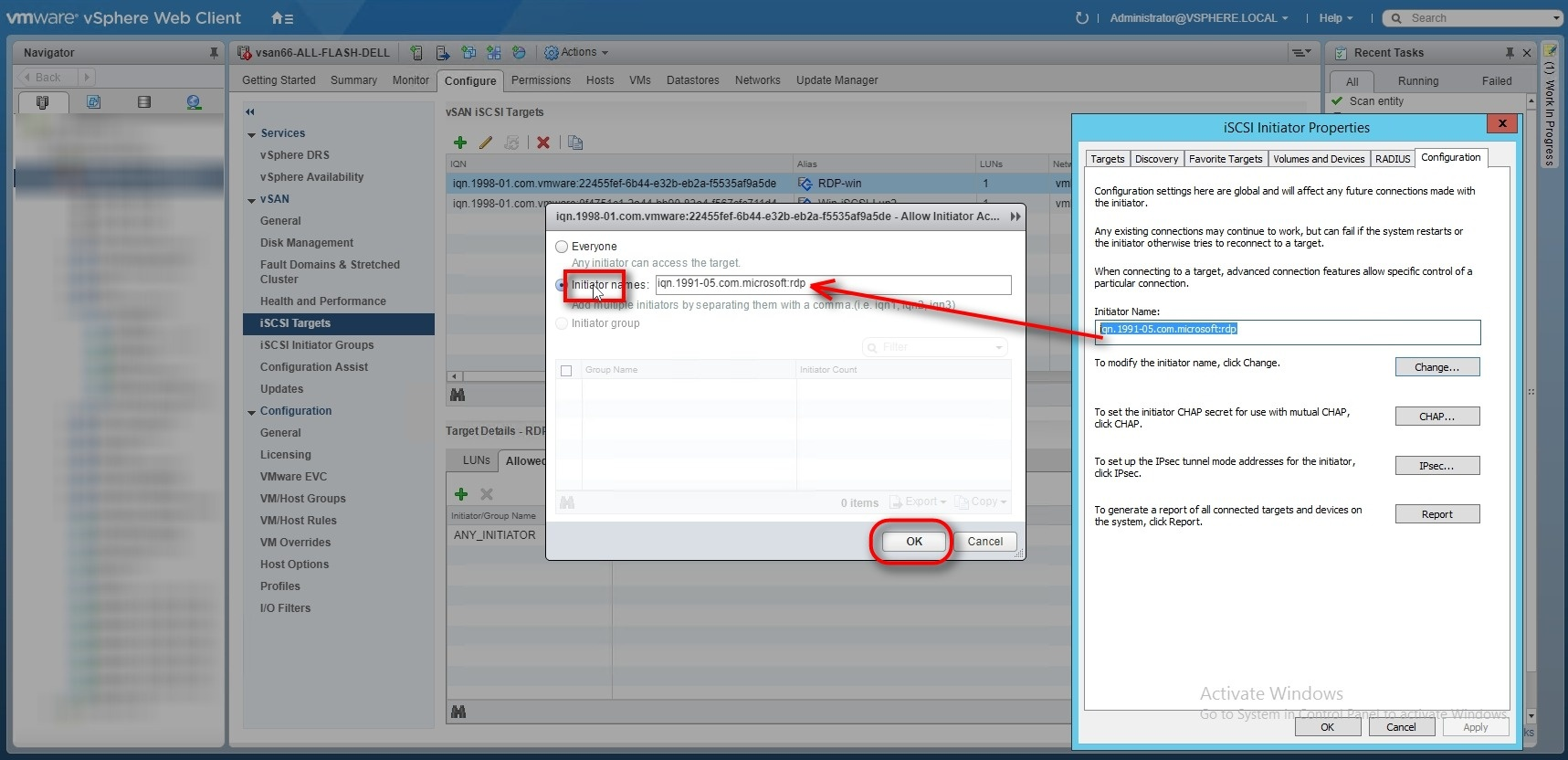 How to Create vSAN iSCSI target and view them on vSAN