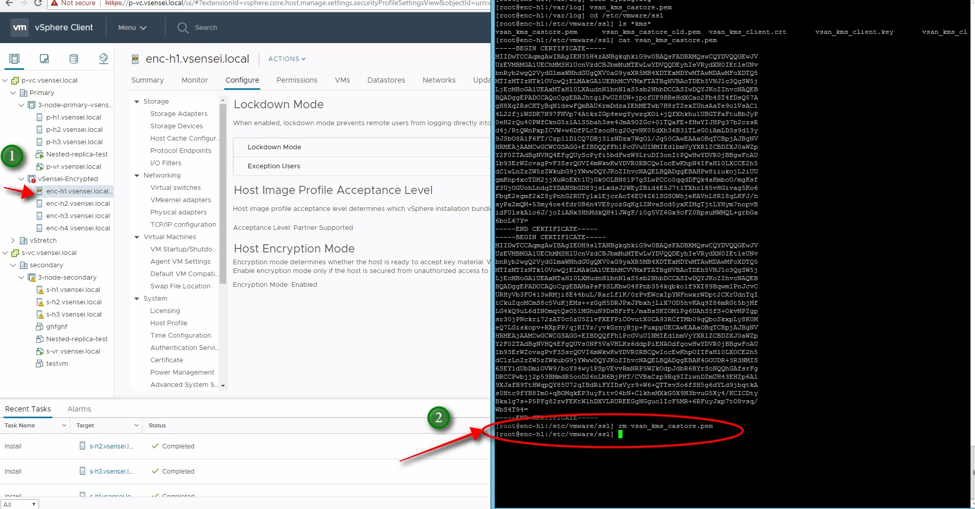 How to troubleshoot encyrpted vSAN cluster- Virtuallysensei com