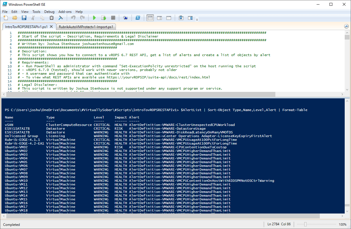Using vROPs 6 7 REST APIs in PowerShell & ServiceNow