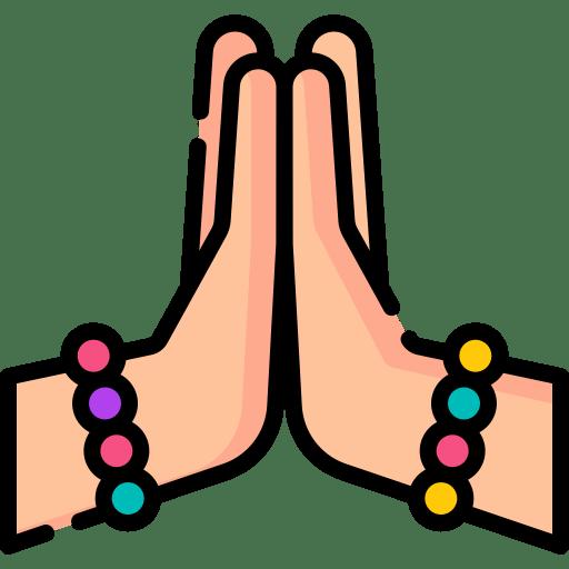 Namaste greeting to say hello in Hindi