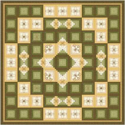 Log Cabin Quilting 16