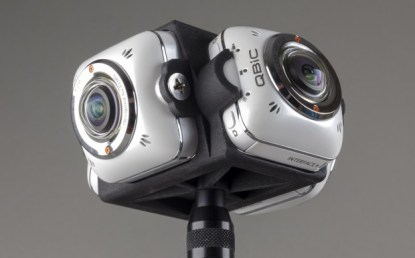 The Elmo360 Mount with 4 QBic MS-1 cameras, for full 360º video capture without blindspot.