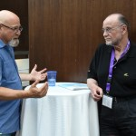 Charlie Fink and Moses Znaimer at VRTO 2017