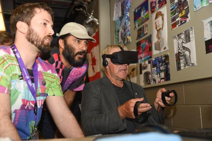 James McRae, Dr. Karan Singh, and Alex Lifeson at VRTO 2017