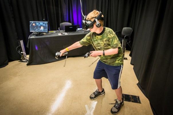 VRTO - Child using VR - photo by Christian Bobak