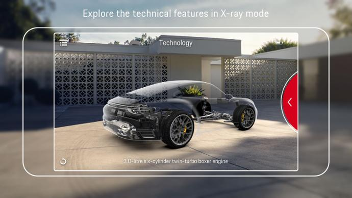 """Customers can view the technical details of the car hitherto hidden from view through the """"highlight function"""""""