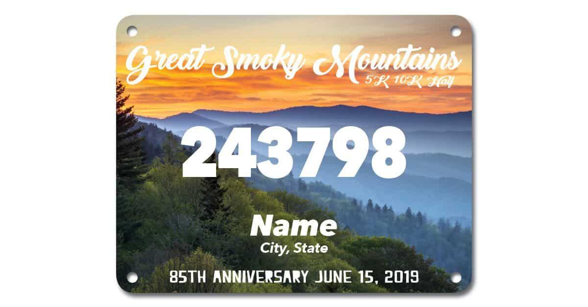 Great Smoky Mountains 85th Anniversary Virtual Race Bib