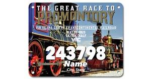 The Race to Promontory Bib Design