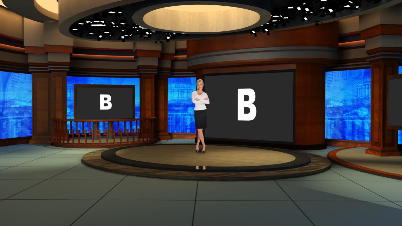 Virtual Set Studio 186 For HD Is A Talk Show Virtual