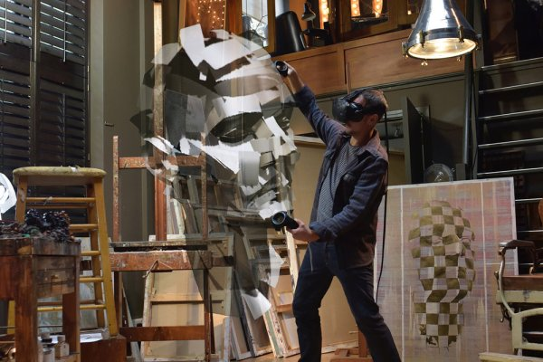 From Virtual to Reality with Jonathan Yeo – Homage to Paolozzi (Self Portrait)
