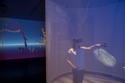 """Ausstellungsansicht """"Mixed Realities"""" (2018), Kunstmuseum Stuttgart, Foto: Frank Kleinbach, (c) Mélodie Mousset"""