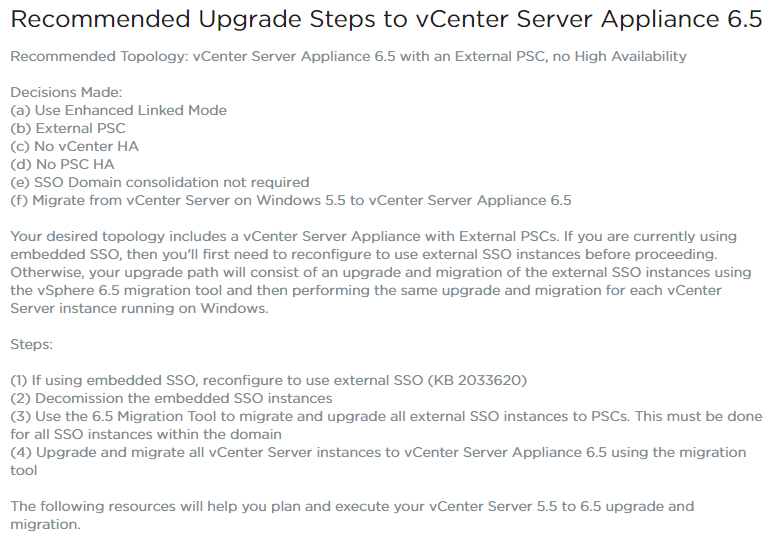 vSphere 6 5 Topology and Upgrade Planning Tool | Virtual Tassie