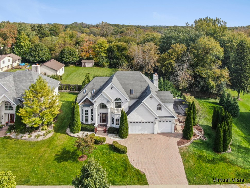 Aerial Photograph of Large Suburban Home