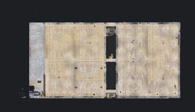 Huge 77,000 SF Space 3D Model