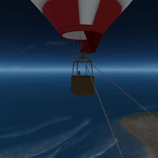 JJIE Virtual World: Enjoying Fresh Air in a Hot Air Balloon on the Beach