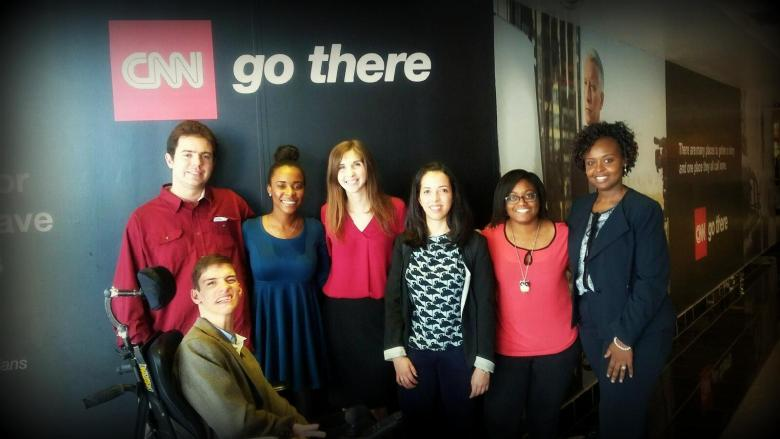 JJIE Interns Present to CNN atlanta