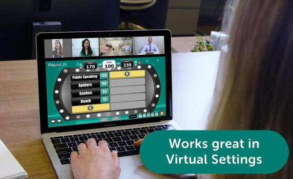 Game Show, Virtual, zoom, Family Feud, interactive game board