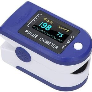 Fingertip Pulse Oximeter-Blood-Oxygen-Saturation-Monitor with Pulse Reading 1c Pulse Oximeter Blue