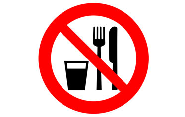 verboden te eten