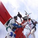 Fallschirmspringen Headdown Exit aus Pilatus Porter d-ffbz
