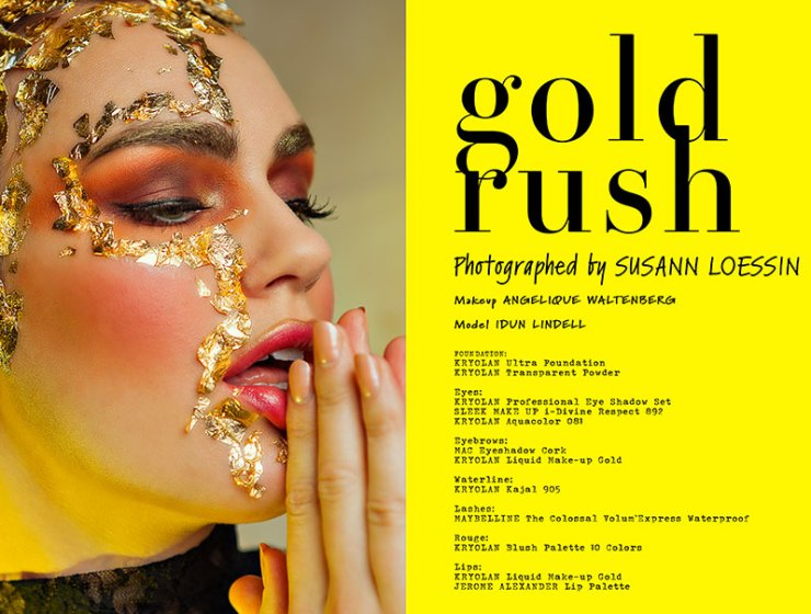Gold Rush - A beauty editorial by Susann Loessin for VGXW Magazine