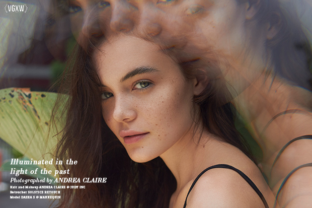 VGXW Magazine Beauty Editorial: Illuminated by the Light of the Past by Andrea Claire