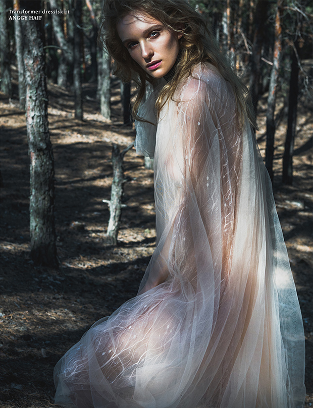 Dreamy fairy tale style fashion editorial by photographer Jude P for VGXW Magazine