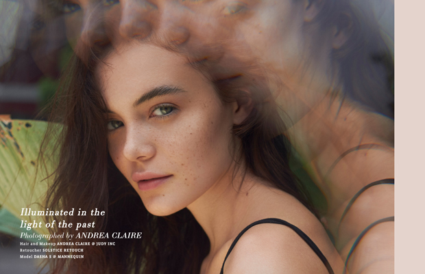 """""""Illuminated in the light of the past"""" - a beauty editorial by Andrea Claire for VGXW Magazine"""