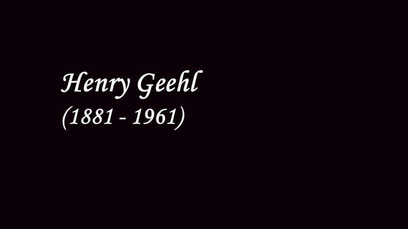 [1909] Henry Geehl plays – Rondo Capriccioso (Op.14) – Mendelssohn