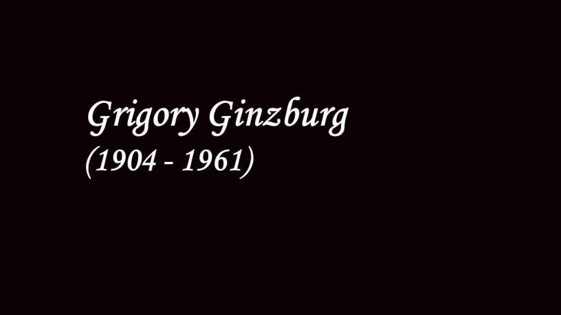 [1947] Grigory Ginzburg plays – No.6 (Consolations, S.172) – Liszt